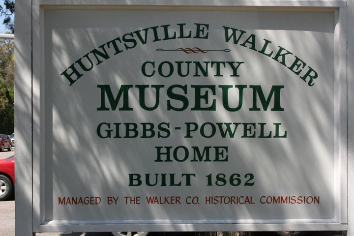 Gibbs-Powell Museum Welcome sign.