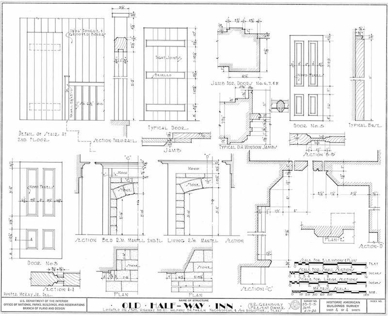 Halfway Inn Measured Drawing of Details