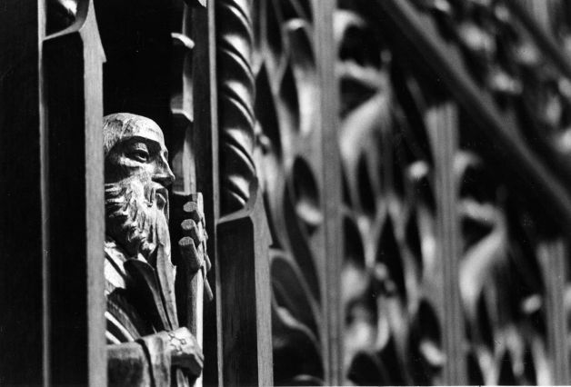 Close-up of Carved Rood Screen.