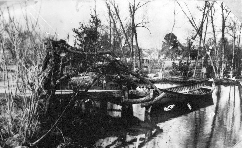 Lake Oolooteka at Sam Houston's Woodland Home ca. 1927