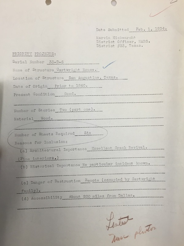 Cartwright House Priority Sheet