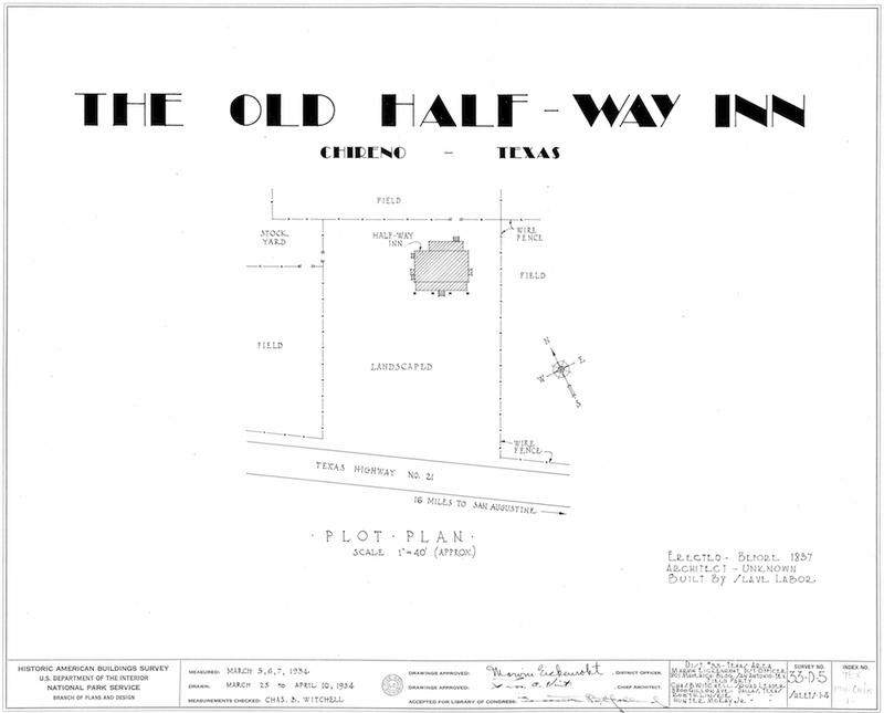 Halfway Inn Measured Drawings Cover