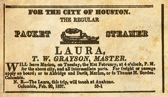 An advertisment for The Laura