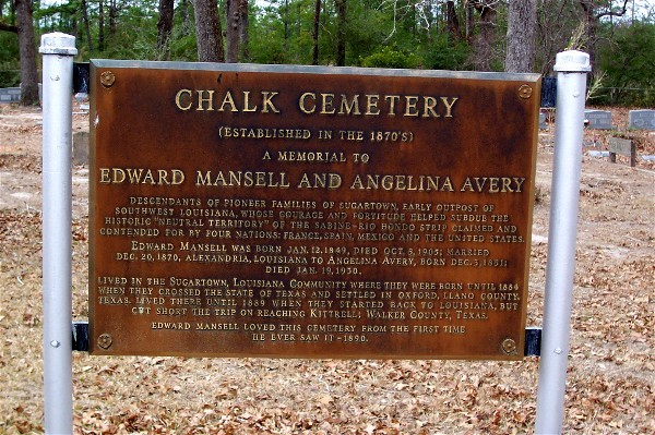 Dedicated sign providing more information regarding the Chalk Cemetery.