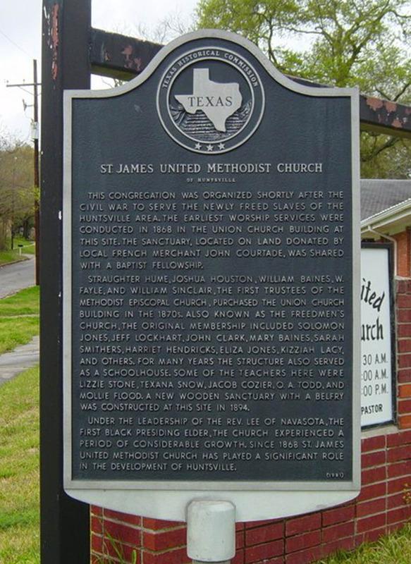 St. James Methodist Church Historical Marker