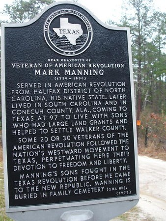 Mark Manning's historical marker along road
