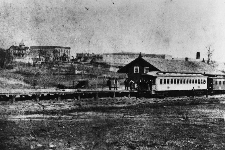 Huntsville Railroad Depot, ca. 1880.