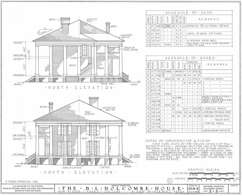 Wyalucing Measured Drawing of Elevations