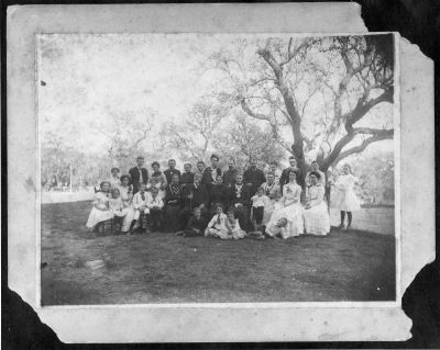 Pritchett family reunion, with Joseph and Henry in the back row