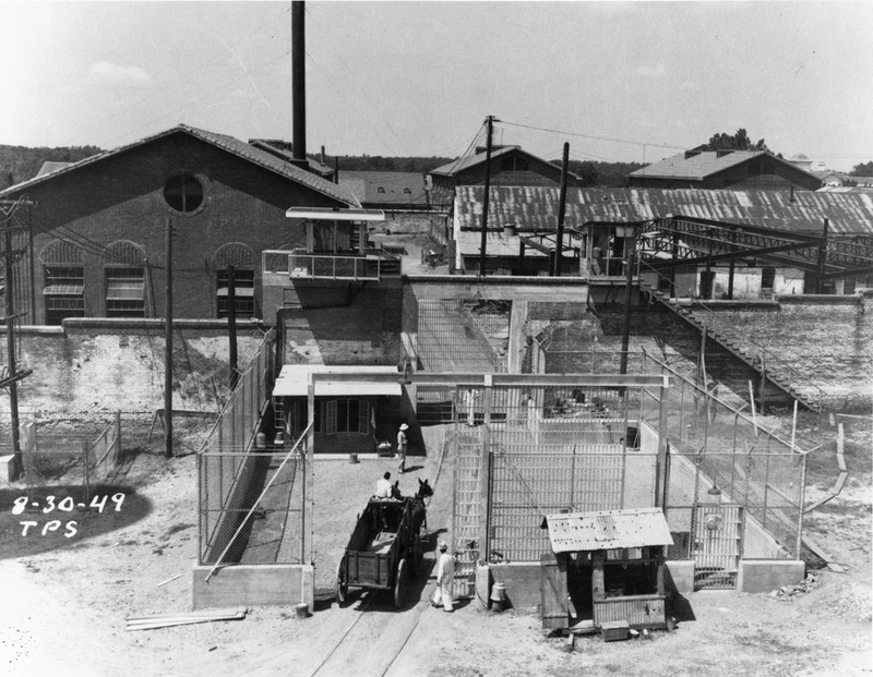 South gate of the Huntsville (Walls) Unit, August 30, 1949