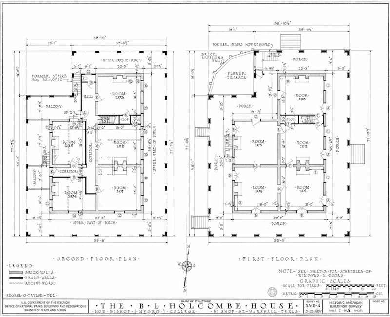 Wyalucing Measured Drawing of Floor Plan