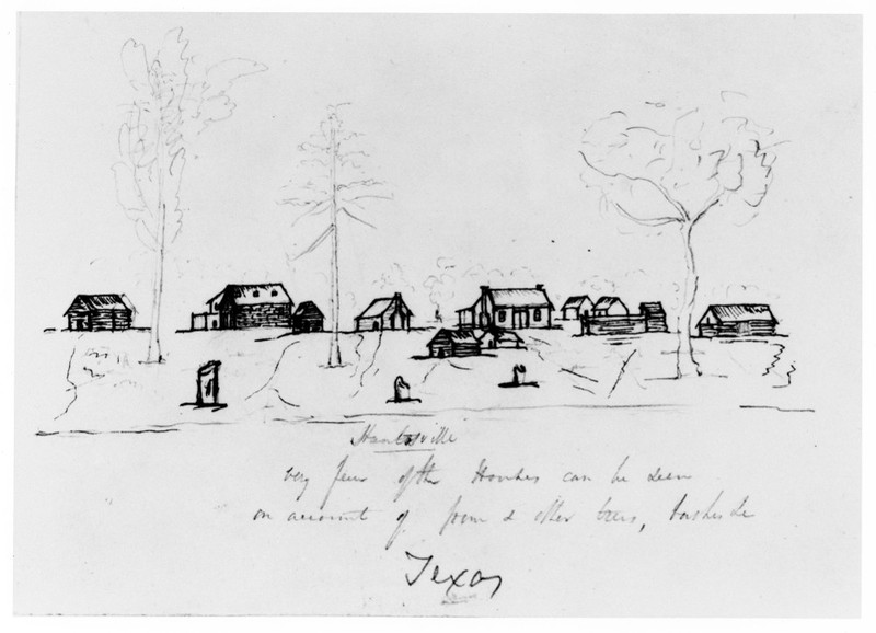 Earliest Known Sketch of Huntsville, 1843