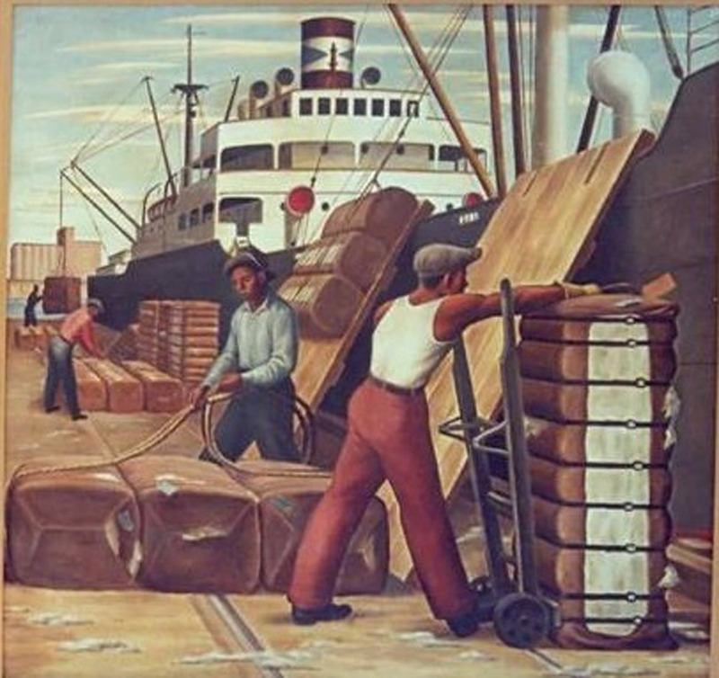 """Loading Cotton"" - Jerry Bywaters (1941)"