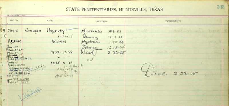Prison Conduct Record for Augustus Haggerty