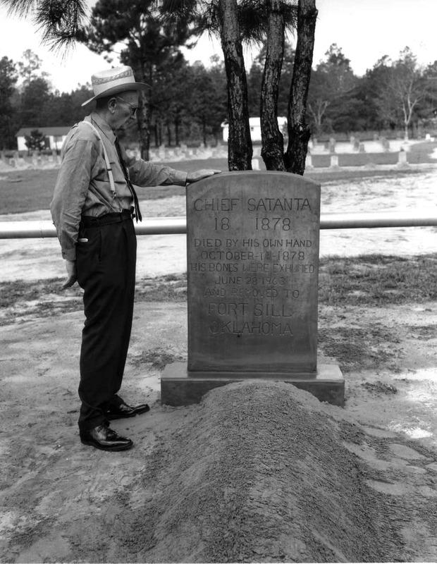 Captain Joe Byrd and Chief Satanta's Gravemarker