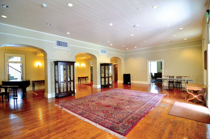 Interior shot of Austin Hall's main room