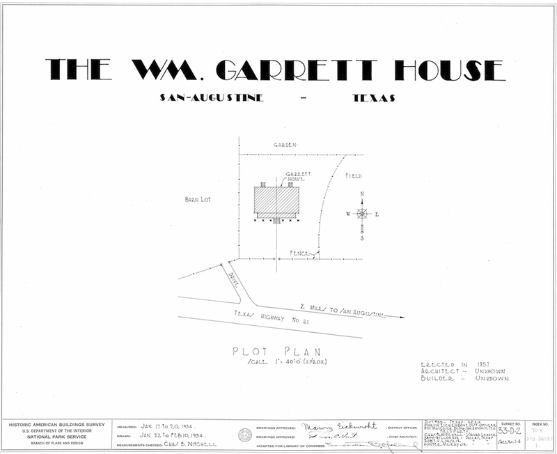 Garrett House Measured Drawings Cover