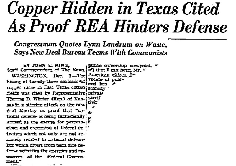 Headline from Dallas Morning News Article, December 2, 1941