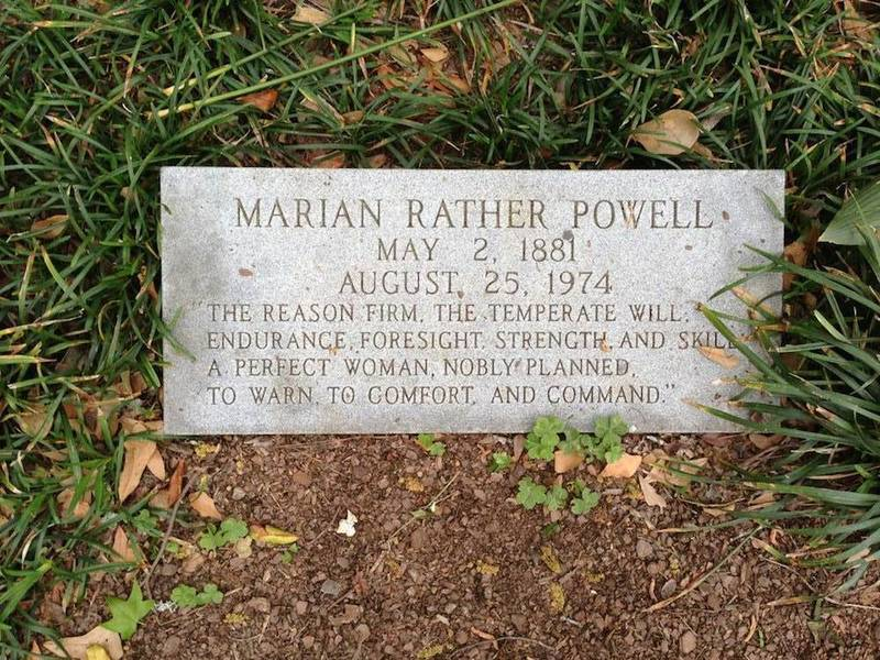 Marian Rather Powell Gravesite