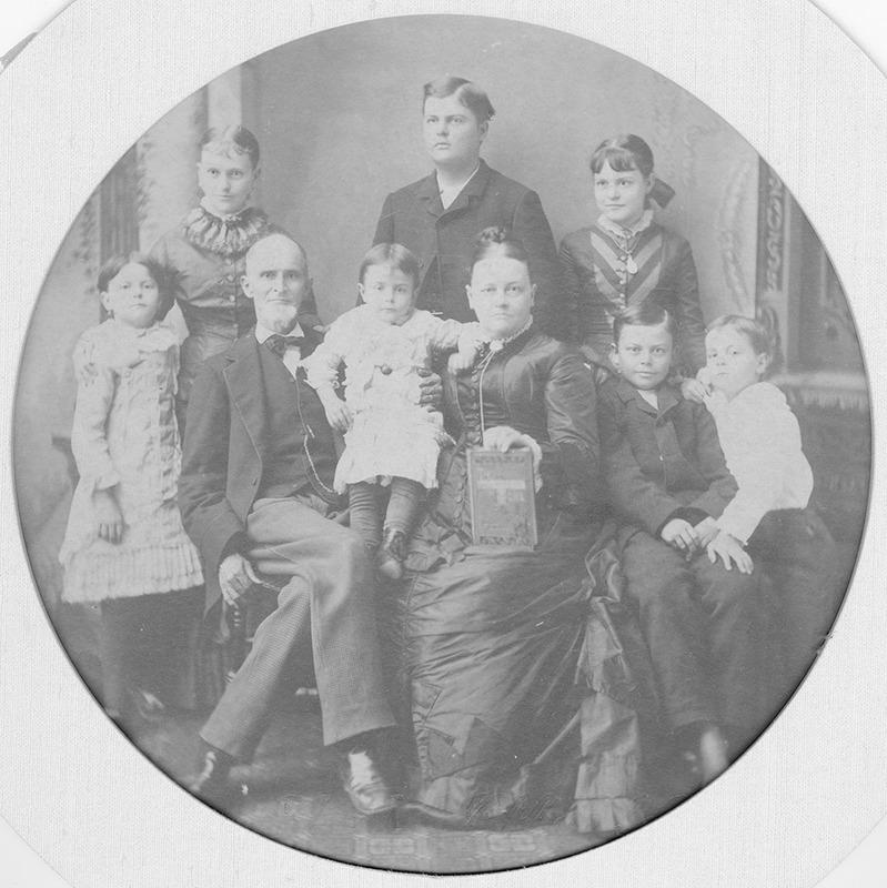 Sandford St. Johns Gibbs and family, 1880.