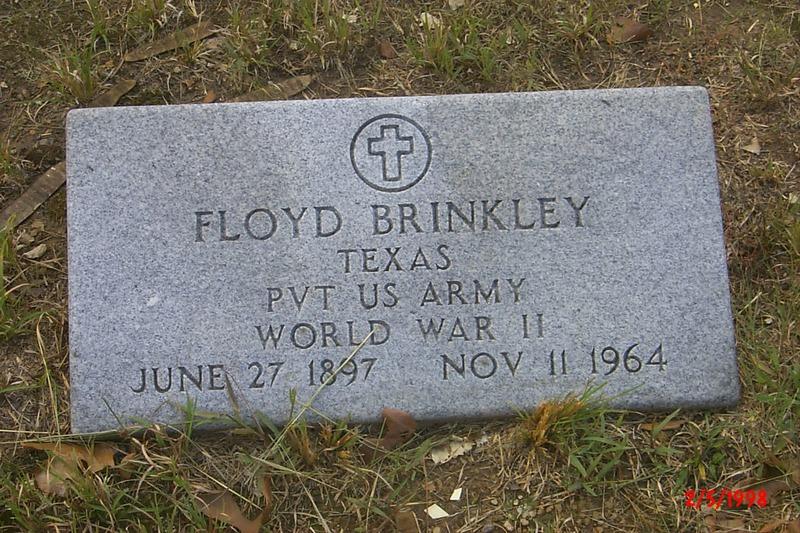 Floyd Brinkley's Gravestone