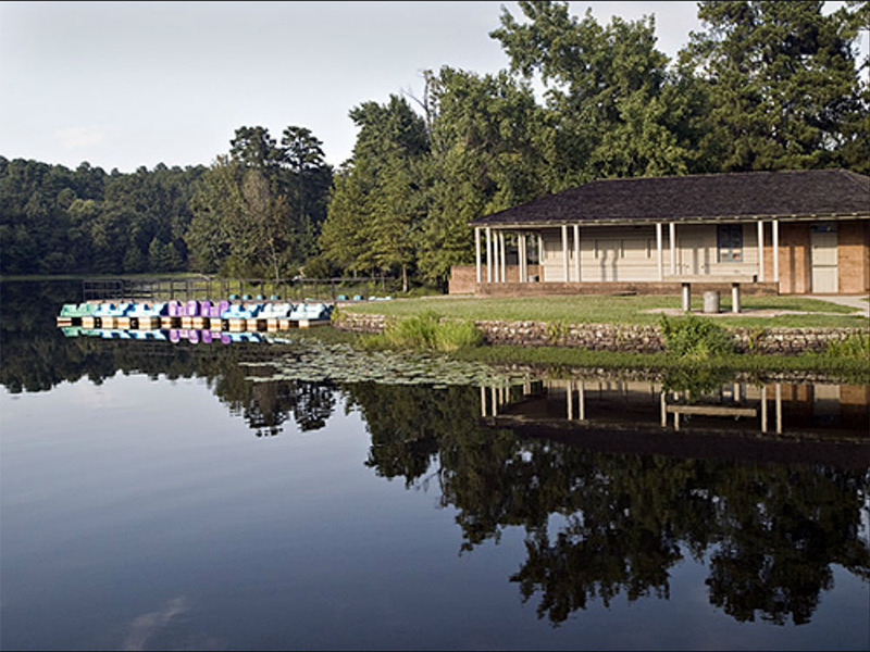 Boat House and Lake at Daingerfield State Park