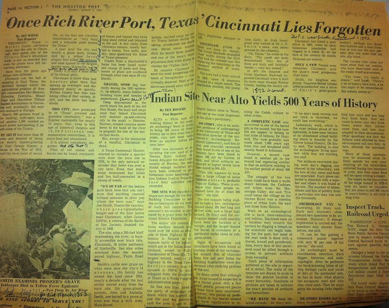 """""""Once Rich River Port, Texas' Cincinnati Lies Forgotten"""""""