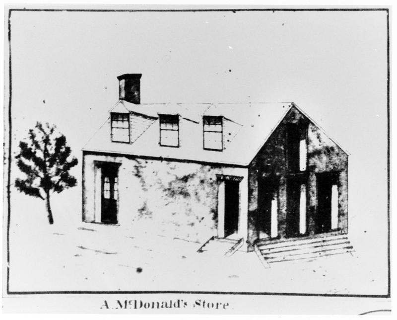 Alexander McDonald's store, 1843