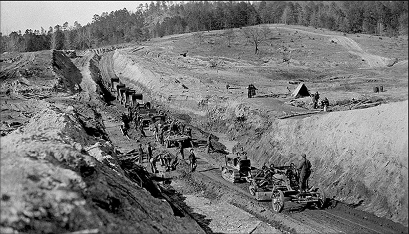 CCC Begins Work on Lake's Dam, c. 1936