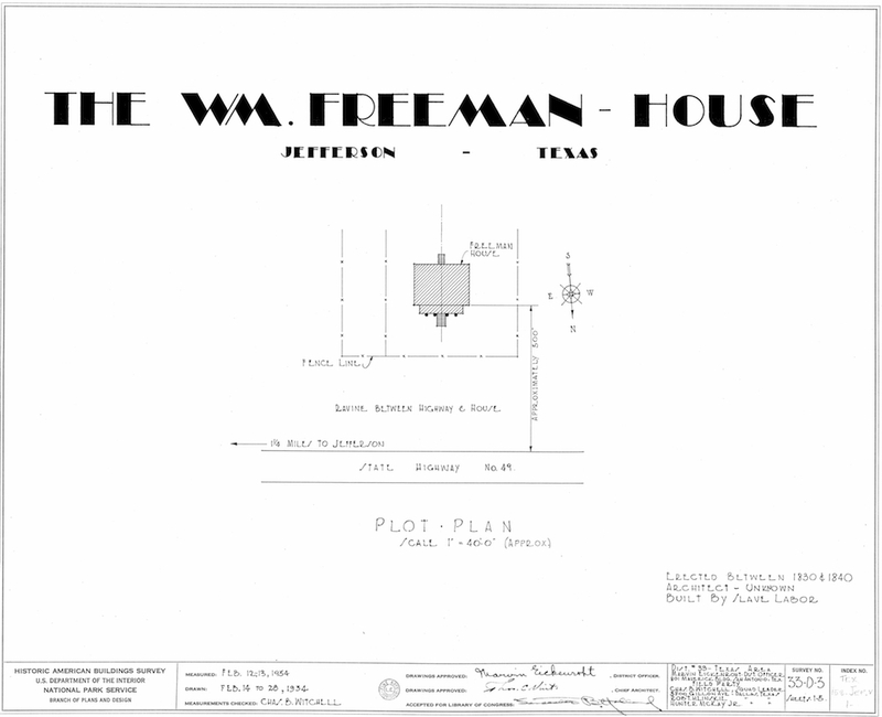 Freeman Plantation House Measured Drawings Cover