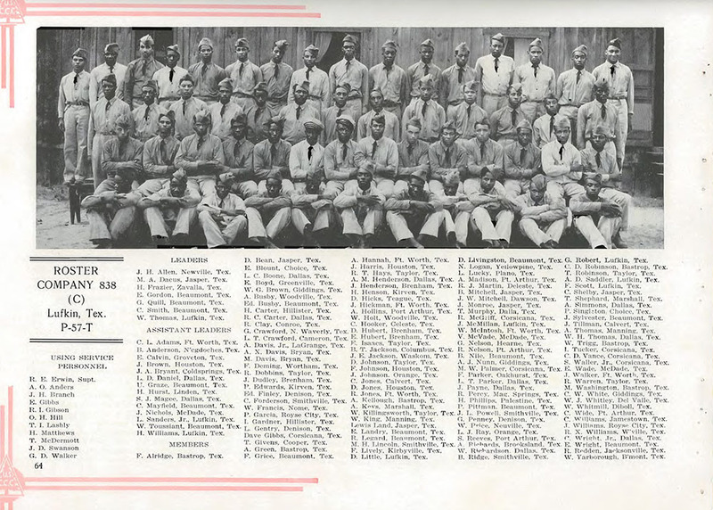 Roster of CCC Company 838