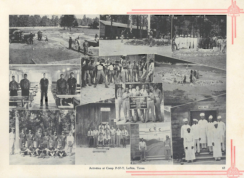 Activities at Camp P-57-T in Lufkin